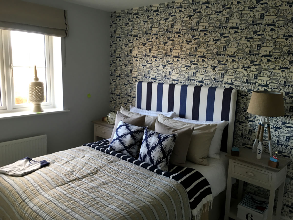West Sussex Show Home Decorating Example Bedroom